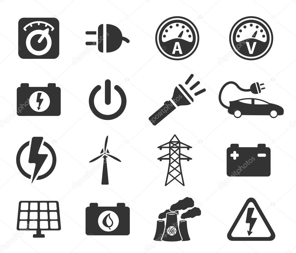 Strom einfach Symbole — Stockvektor © ayax55 #85783102