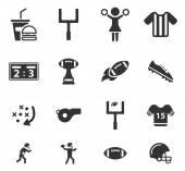 Americký fotbal jednoduše ikony
