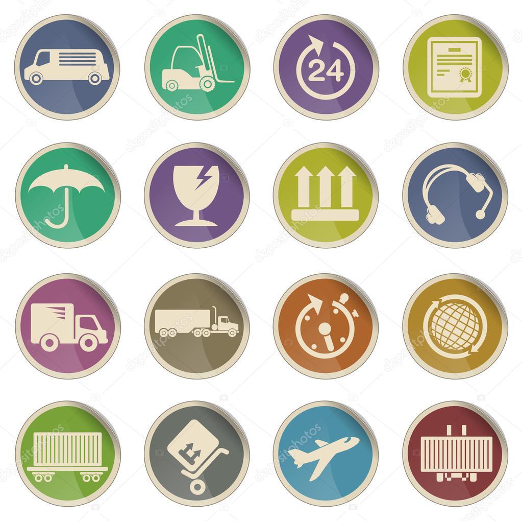 cargo shipping web icons