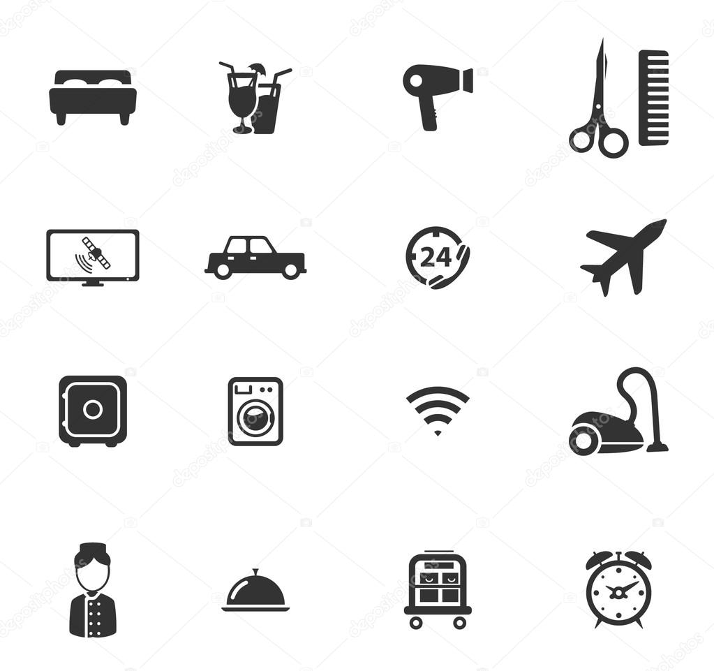 A Hotel Simply Simply Icons Stock Vector 87733400