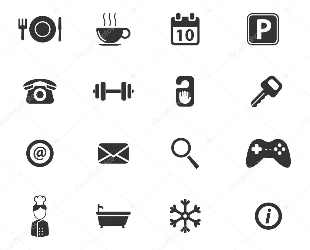 A Hotel Simply Hotel Simply Icons Stock Vector Ac Ayax55 87733408