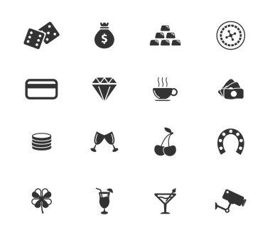 Casino icon set