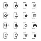 Smartphone jednoduše ikony