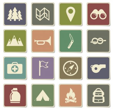 Boy scout simply icons