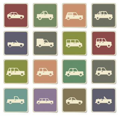 Cars simply icons