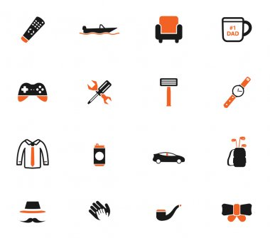 Fathers day simply icons