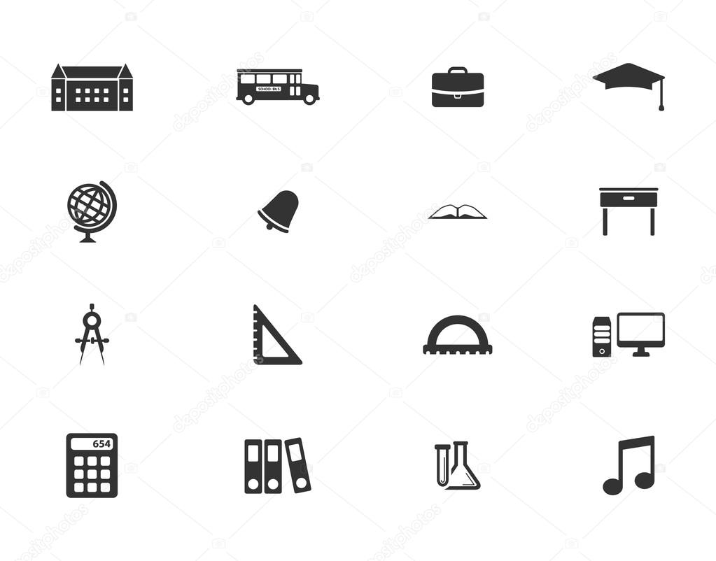 School simply icons