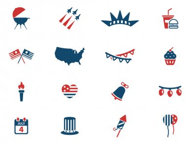 Independence day simply icons