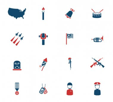 Memorial day simply icons