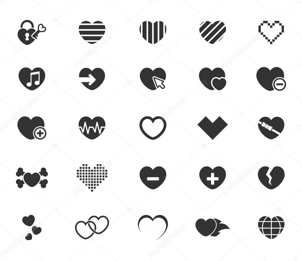 Einfach Symbole Herz — Stockvektor © ayax55 #96490572