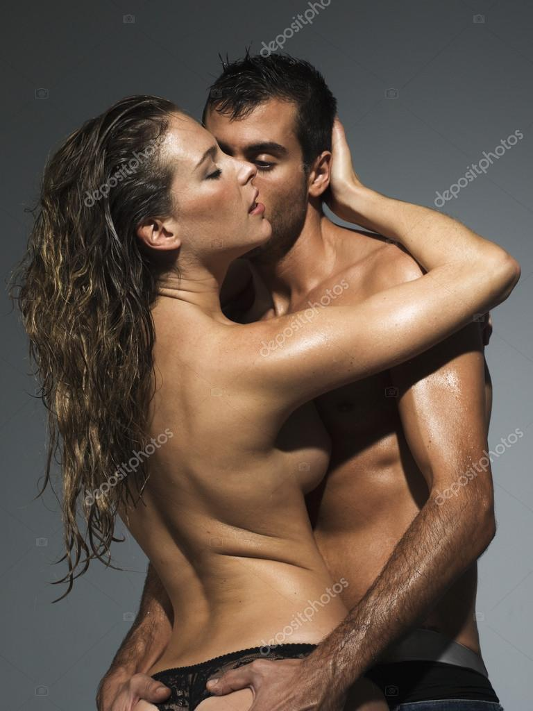 A Man And A Woman Foreplaying In Grey Blackground Photo By Immfocus