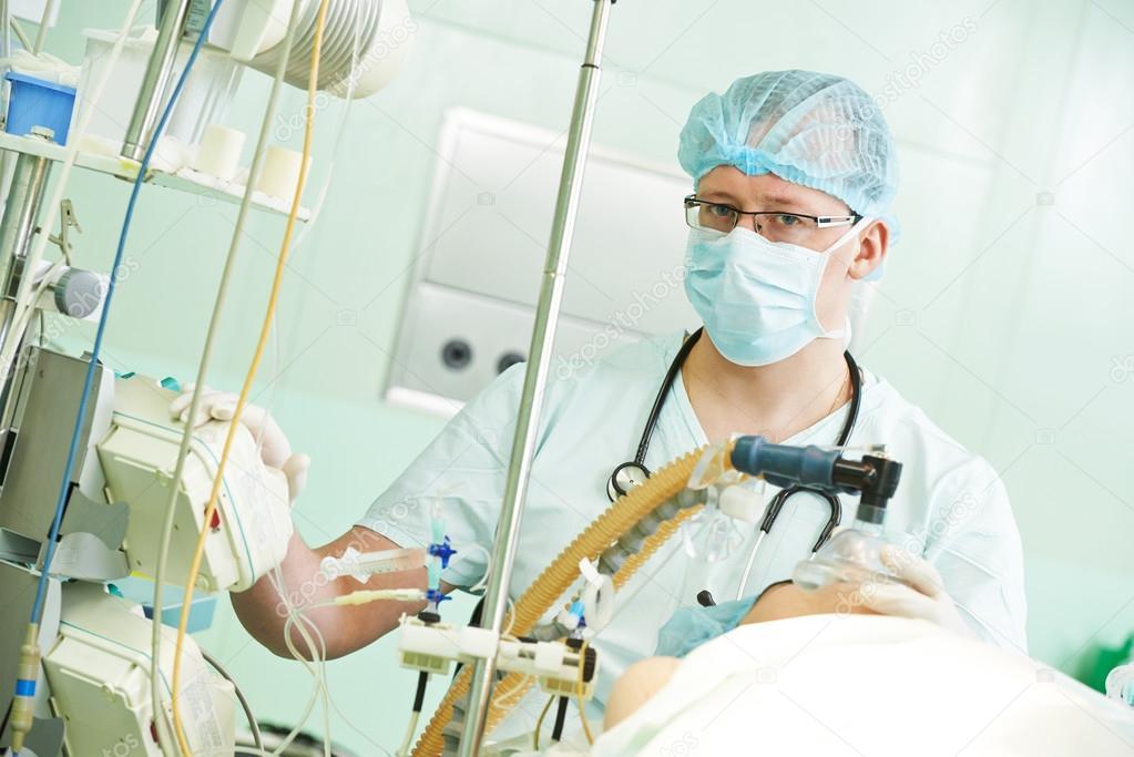 médico anestesiólogo en operación cardiaca — Fotos de Stock ...