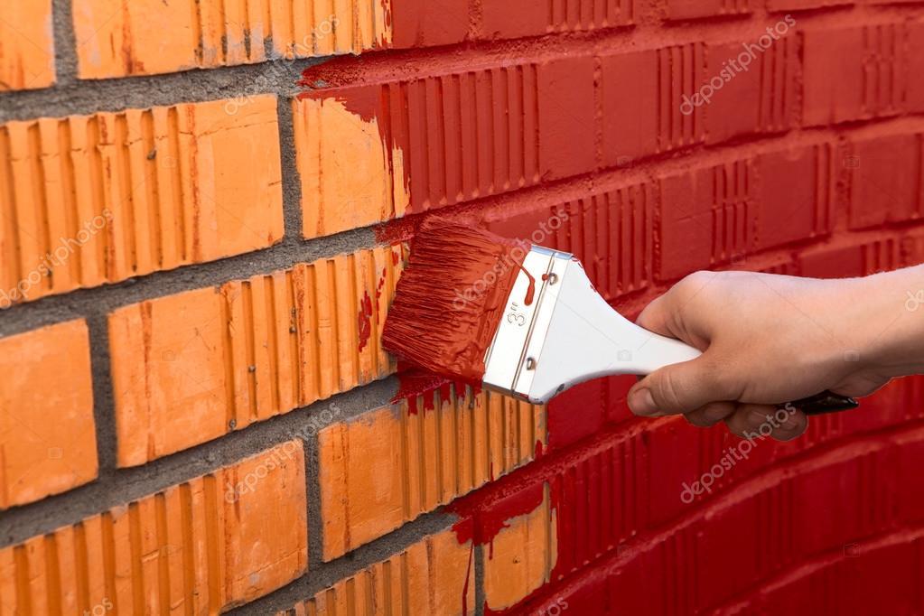 Human hand painting wall