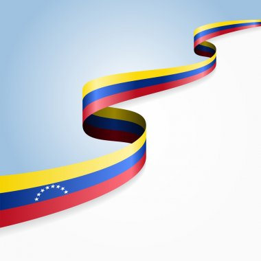 Venezuelan flag background. Vector illustration.