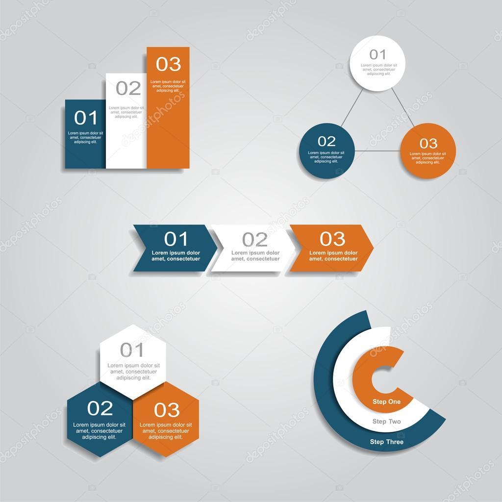 Satz von Infografiken Design-Vorlagen. Vektor-illustration ...