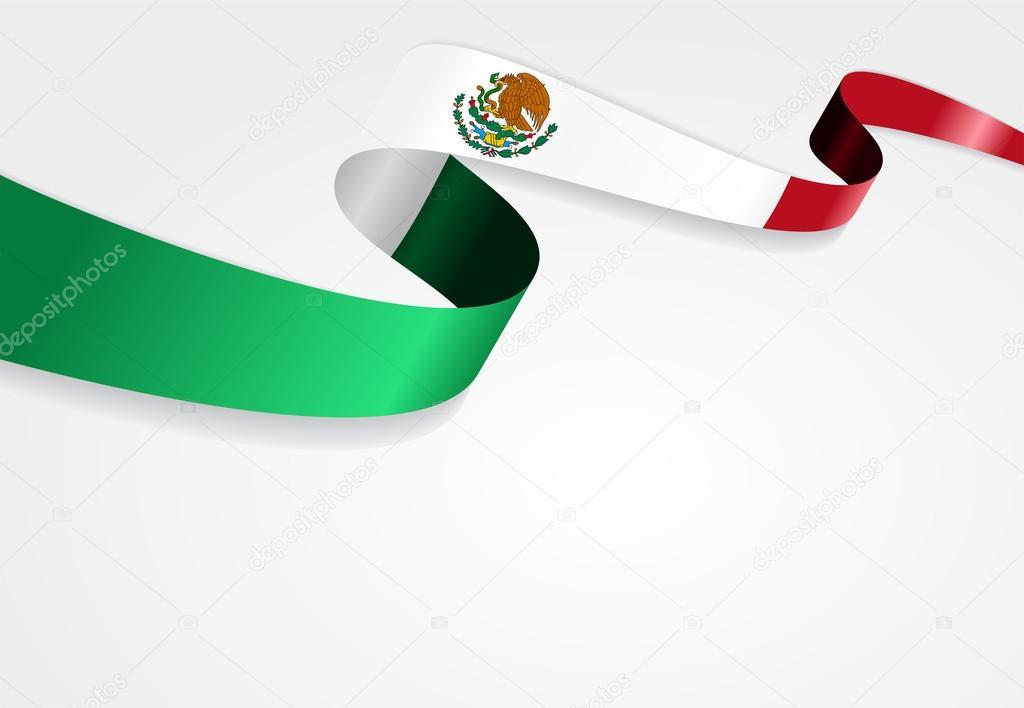 Fondo De La Bandera Mexicana. Ilustración De Vector