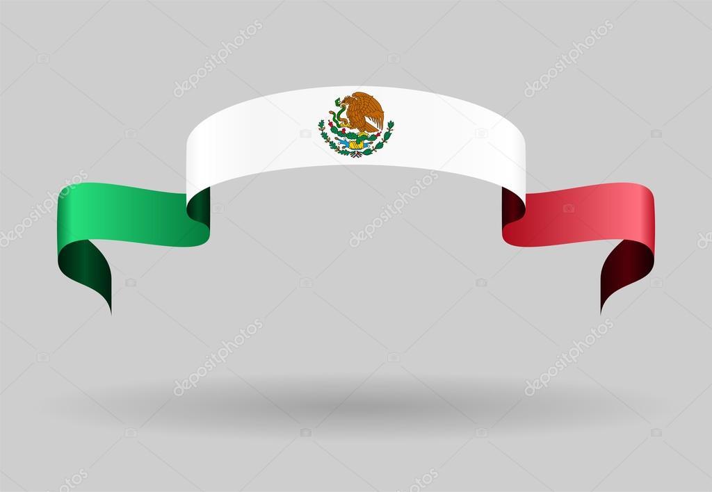 Fondo de la bandera mexicana. Ilustración de vector — Vector de ...