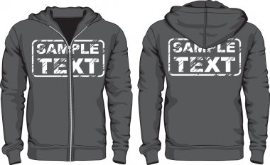 Mens hoodie shirts. Front and back views