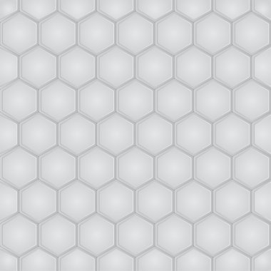 Hexagon geometric seamless pattern. Vector