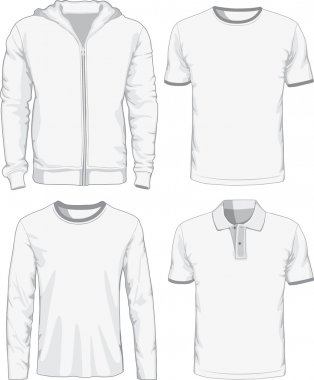 Set of male shirts. Vector illustration