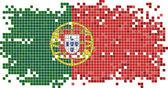 Portugál grunge csempe zászló. Vektoros illusztráció