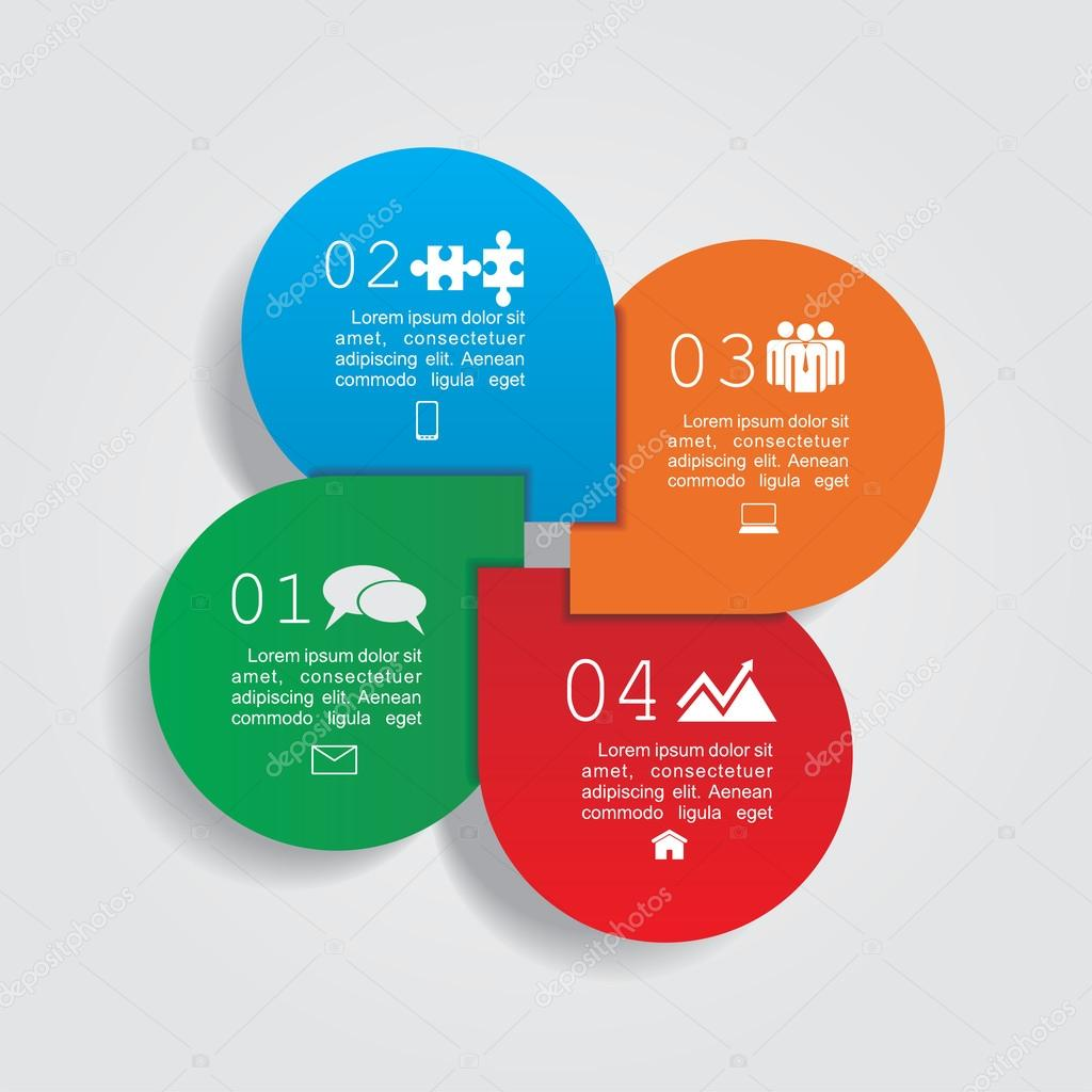 Infographic design template with elements and icons. Vector