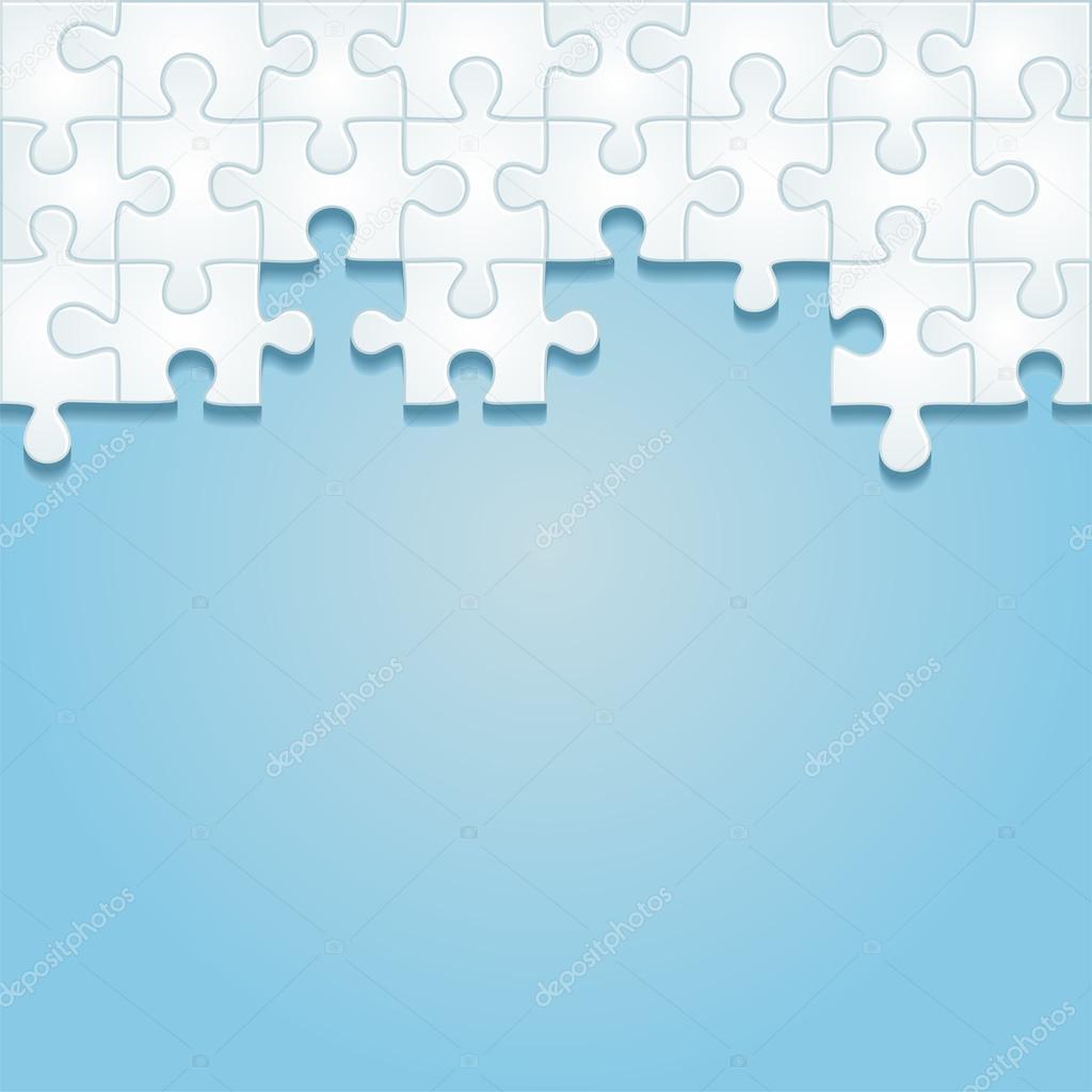 Puzzle-Rahmen-Hintergrund. Vektor-illustration — Stockvektor ...
