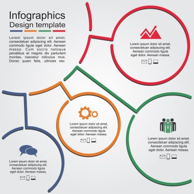 Infographic report template with lines and icons. Vector illustration clip art vector