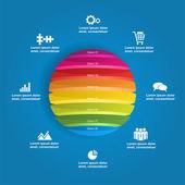 Šablona návrhu Infographic. vektorové ilustrace
