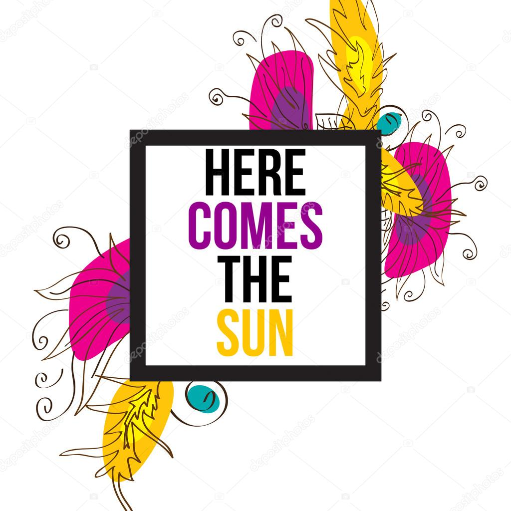 here comes the sun stock vector helenka 102997238 rh depositphotos com here comes the sun clipart