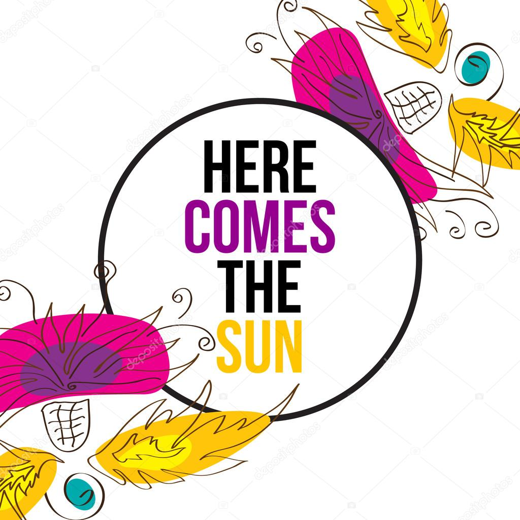 here comes the sun stock vector helenka 102997248 rh depositphotos com