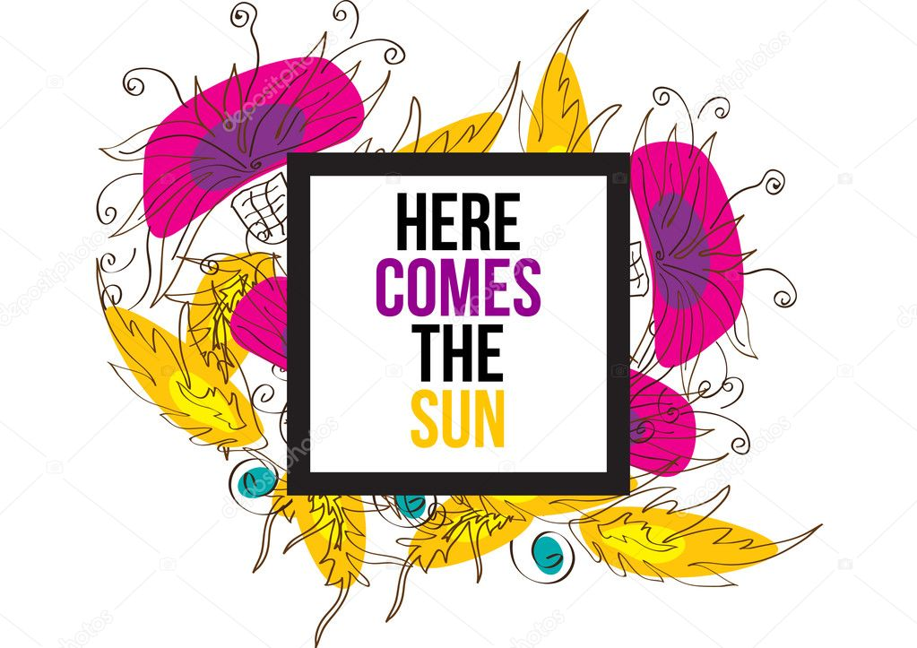 here comes the sun stock vector helenka 102997314 rh depositphotos com