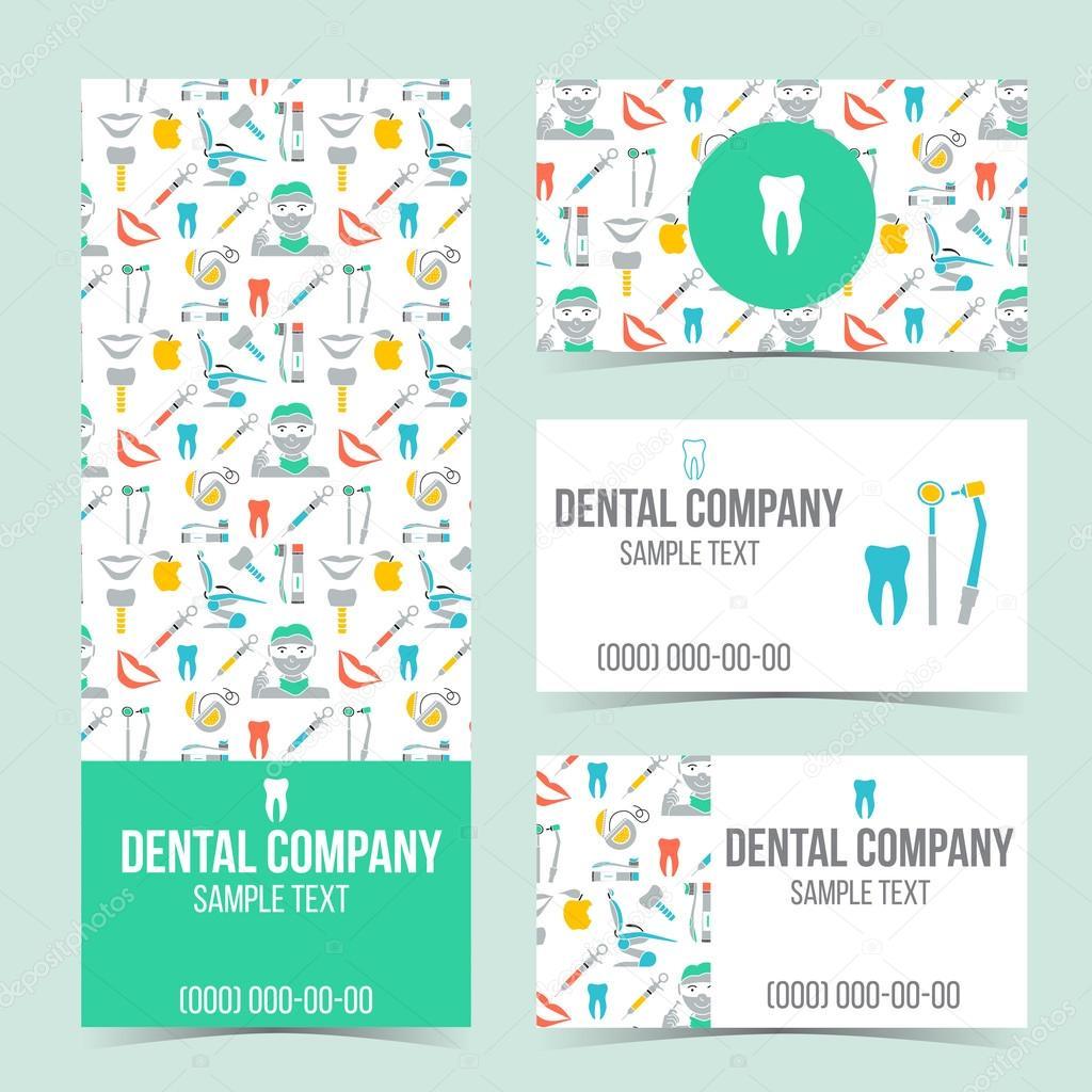 Set of dental business cards — Stock Vector © helenka #106889740