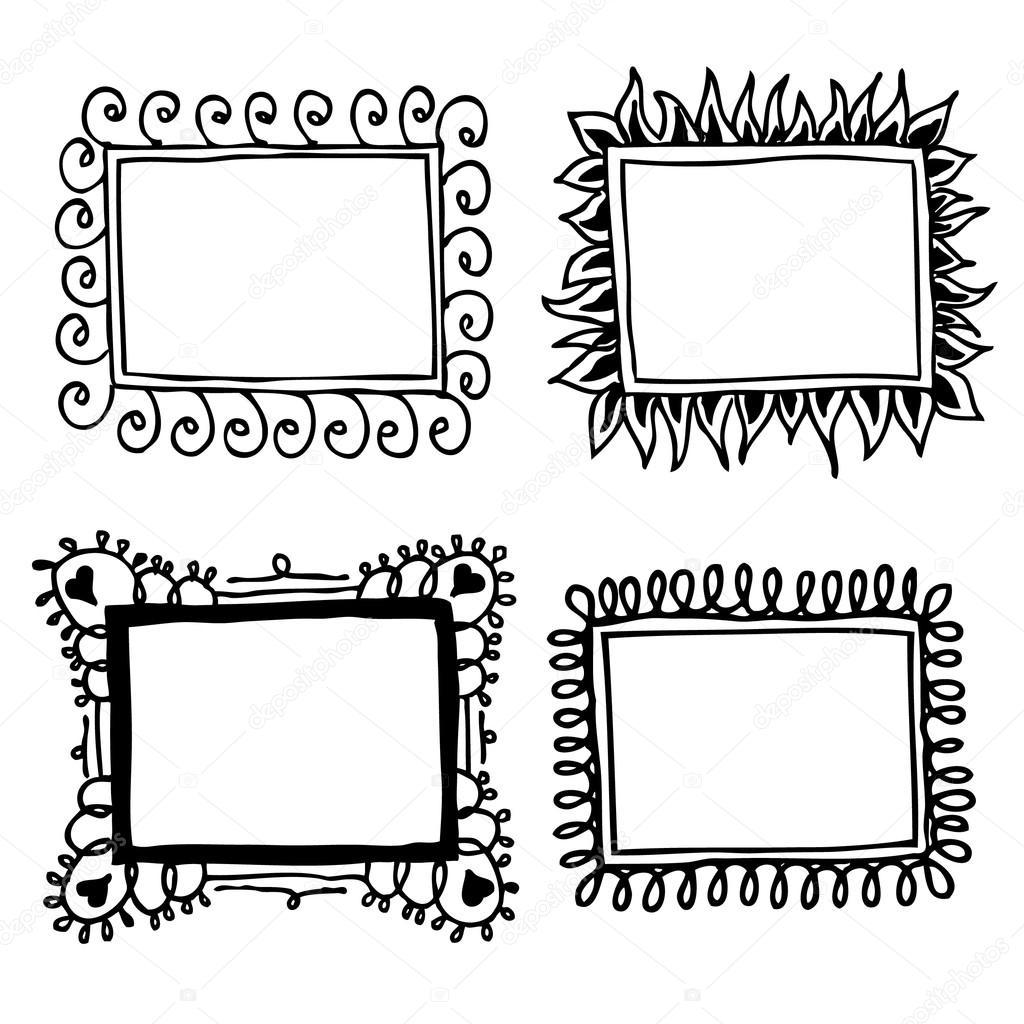 Marcos en blanco y negro vector de stock helenka 71121839 Marcos de cuadros blancos