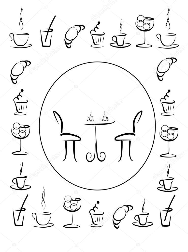 Imágenes: el noviazgo para colorear   cubierta para el menú de café ...