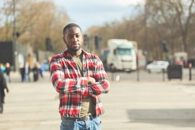 Young black man portrait in London