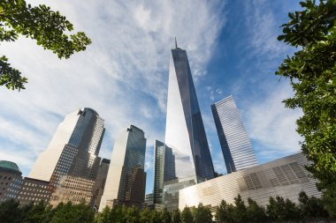 Freedom Tower and shortest Skyscrapers in Lower Manhattan, New Y