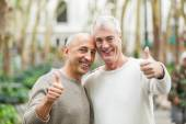 Gay Couple showing Thumbs Up