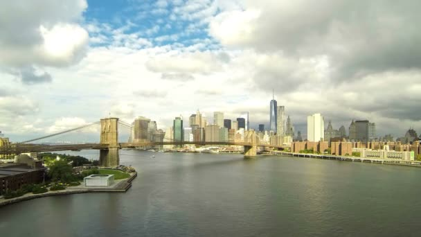 Time-lapse view of downtown Manhattan in New York