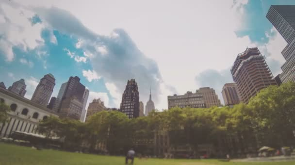 Time-lapse view of Bryan Park in New York