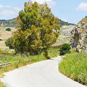 Strada asfaltata in Italia