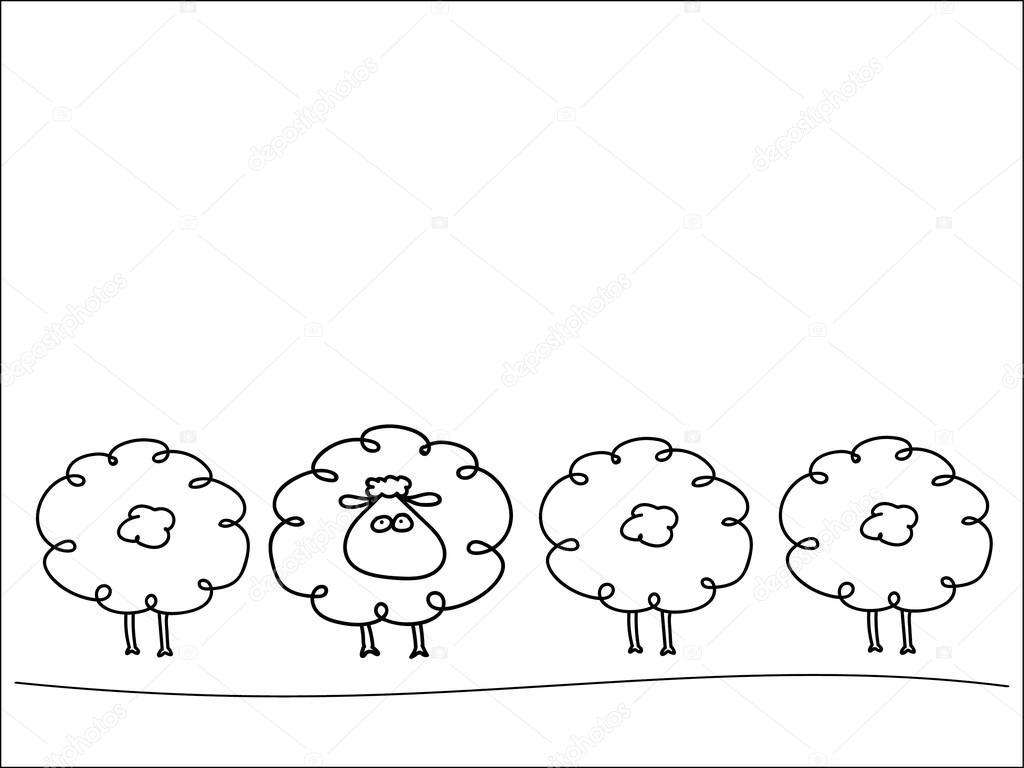 Wiersz Owiec Grafika Wektorowa Svinka 98519884