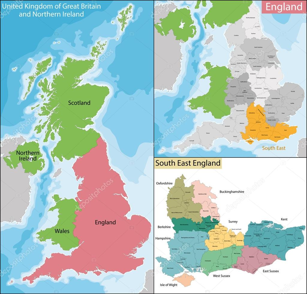 Map Of England 950.Map Of South East England Stock Vector C Volina 116411524
