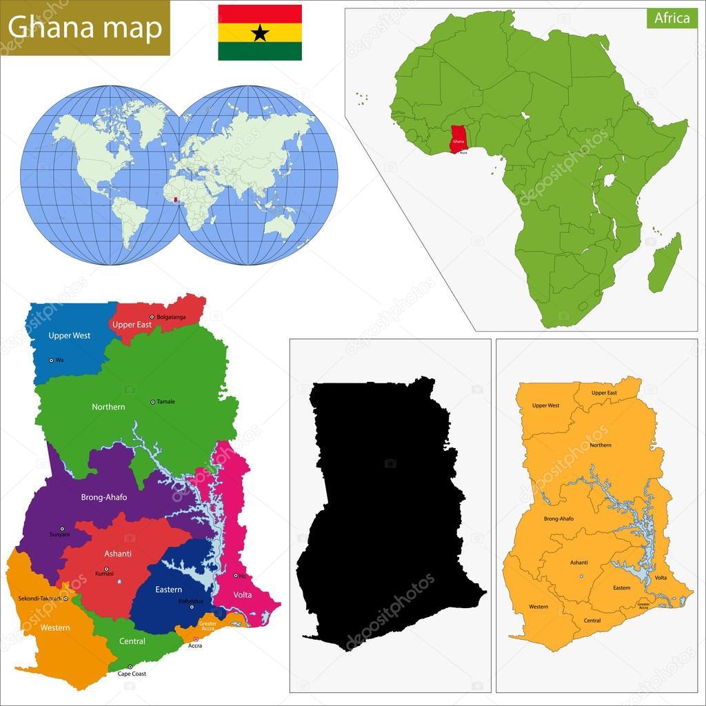 Ghana map Stock Vector Volina 68710145