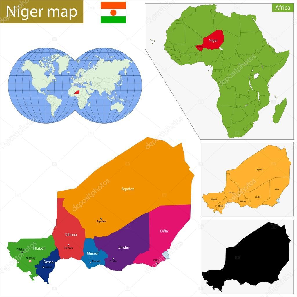niger map geography of niger map of niger worldatlascom - HD1024×1024