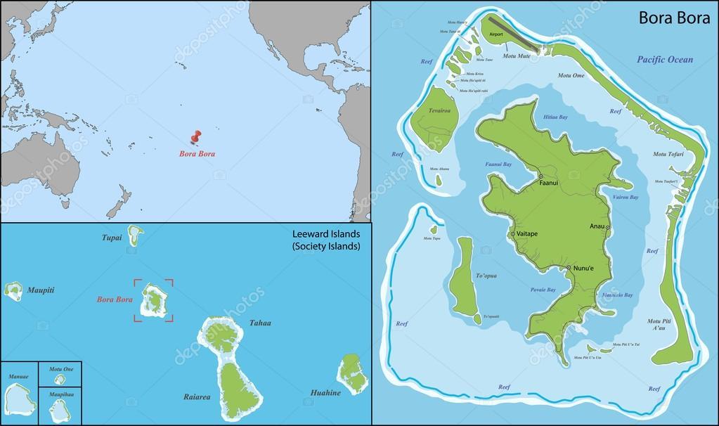 bora bora mapa Mapa de Bora bora — Vector de stock © Volina #71430099 bora bora mapa