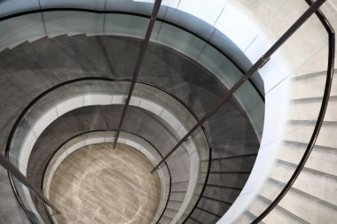 View of spiral staircase in a building