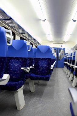 Interior view of train