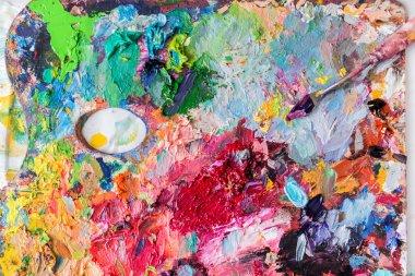 artist  palette with paints