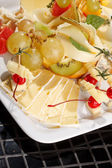 plate of cheese on plate